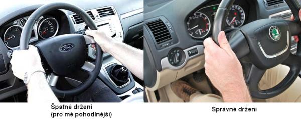 Držení volantu